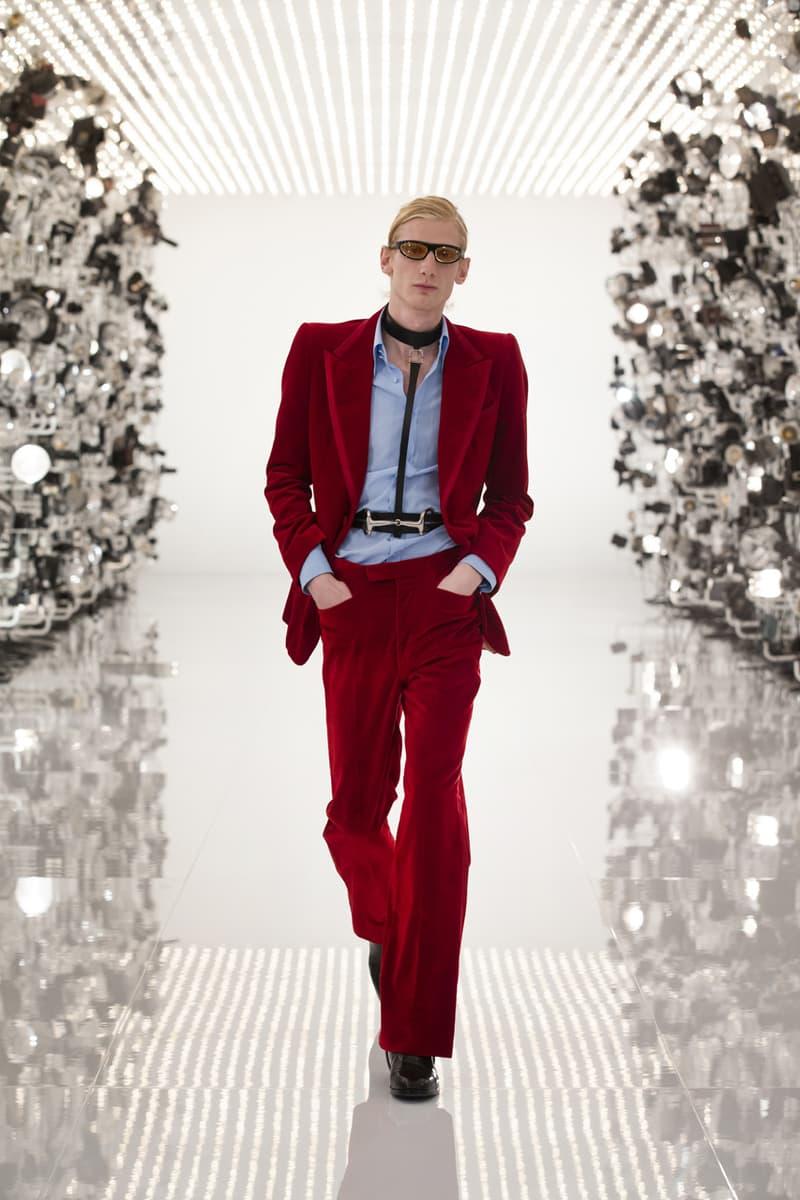 "Gucci Debuts Balenciaga ""Collab"" on ""Aria"" Runway alessandro michele demna gvasalia collaboration collection 100th anniversary menswear womenswear price buy website logo jacket"