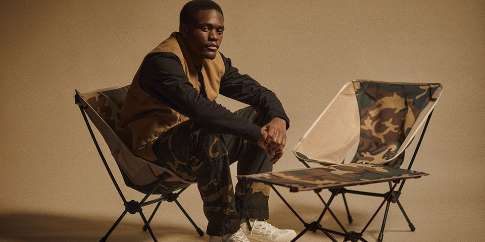"Carhartt WIP Brings ""Laurel"" Camo to Helinox Chair and Table"