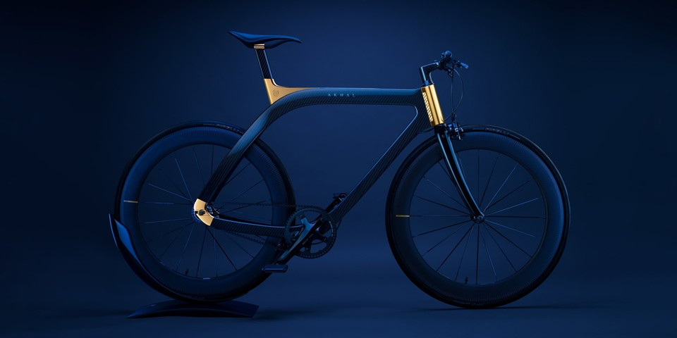 Design Studio Extans Debuts Beautiful Blue Carbon Fiber Akhal Sheen Bicycle