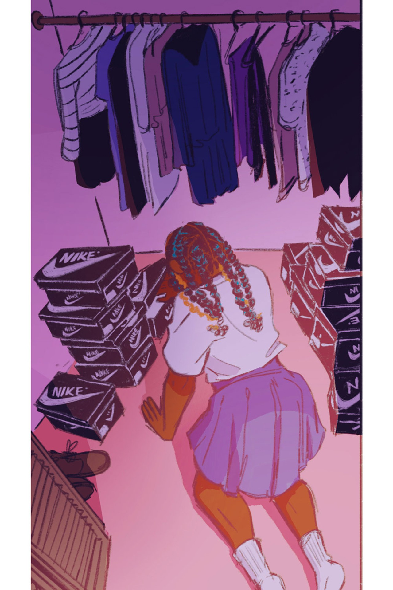 getting dressed with MariSole styling webcomic series
