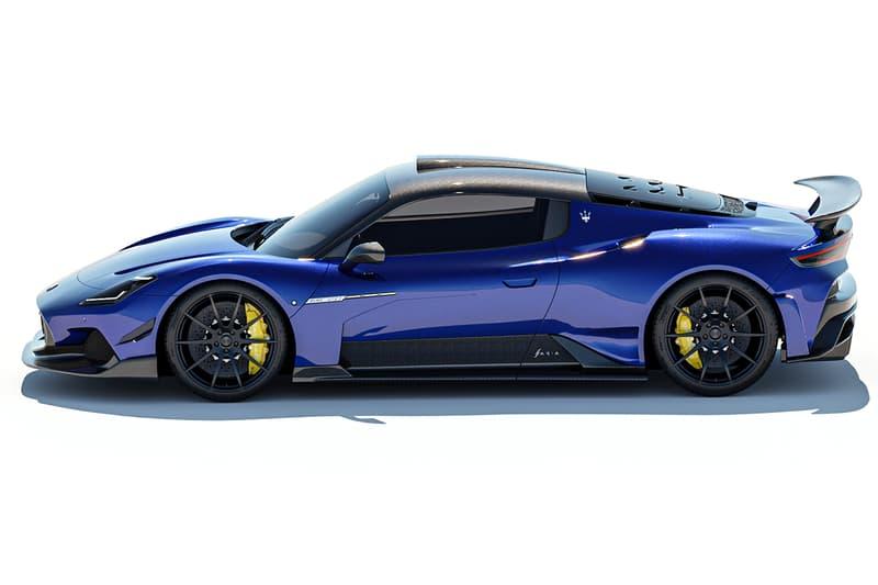 "Maserati MC20 ""Aria"" Aerokit by 7designhouse Widebody Blue Hypercar Hybrid Ferrari"