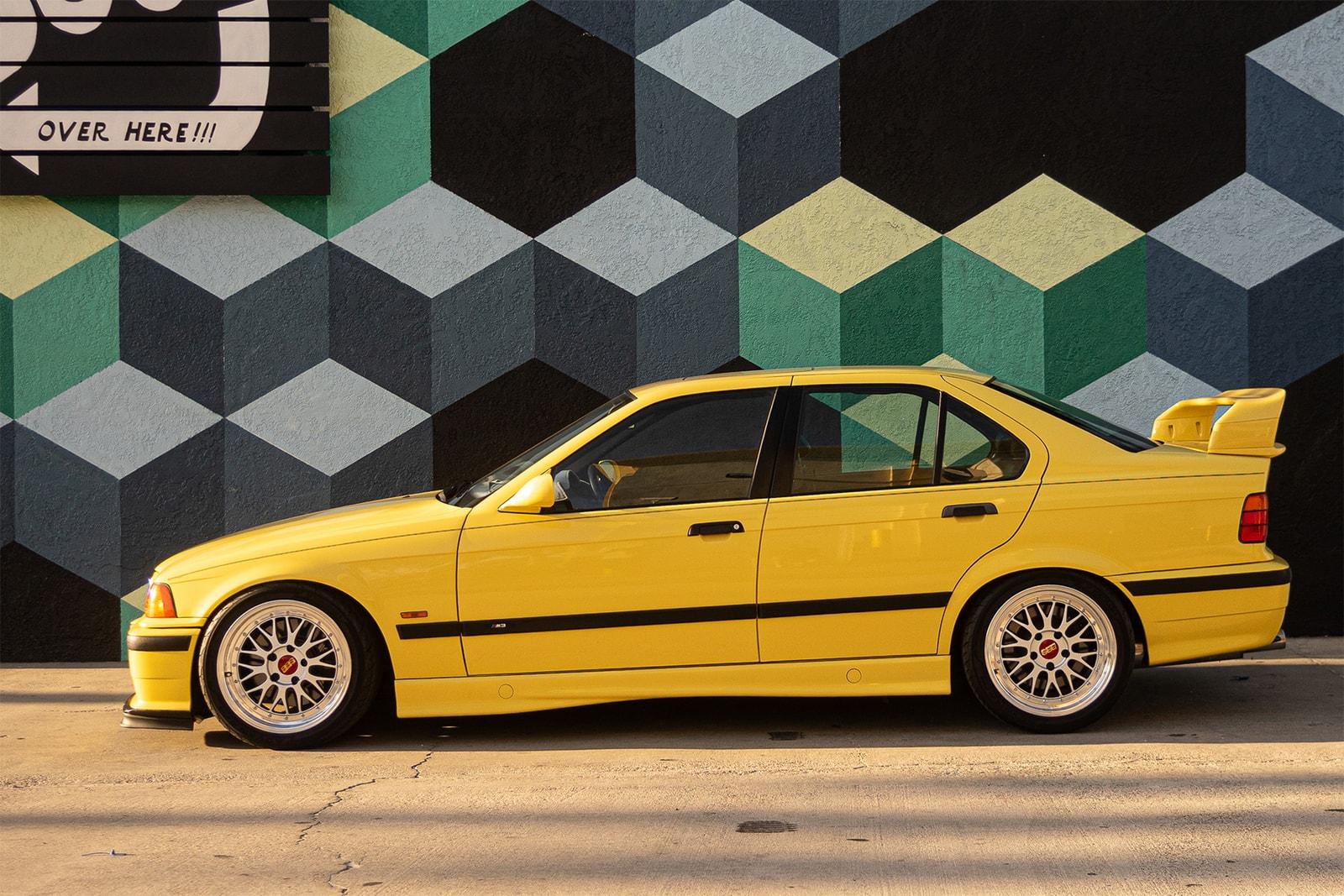 Nick Sisombath of Collegium and His BMW M3 E36 Drivers HYPEBEAST Car Club Dakar Yellow 3/4/5 Rare