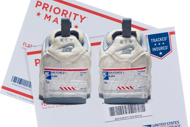 usps nike air force 1 experimental priority mail dispute disagreement beef official release date info photos price store list buying guide interview controversy legal lawsuit sue logo packaging