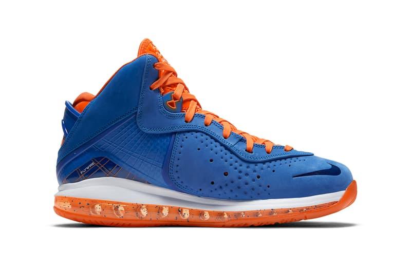 nike basketball lebron james 8 varsity royal blue orange blaze total white CV1750 400 official release date info photos price store list buying guide
