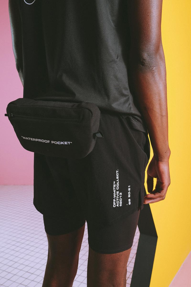 Off-White™ off active athleisure gym sportswear workout collection lookbook release date info buy price site store web menswear womenswear virgil abloh