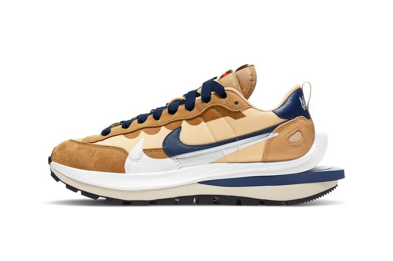 sacai Nike Vaporwaffle Sesame Look oficial Información de lanzamiento DD1875-200 Azul Void Blanco Precio Fecha Comprar Chitose Abe