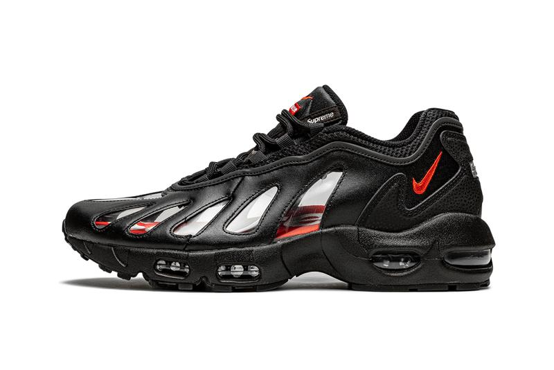 supreme nike air max 96 black speed red clear CV7652 002 release info store list buying guide photos price