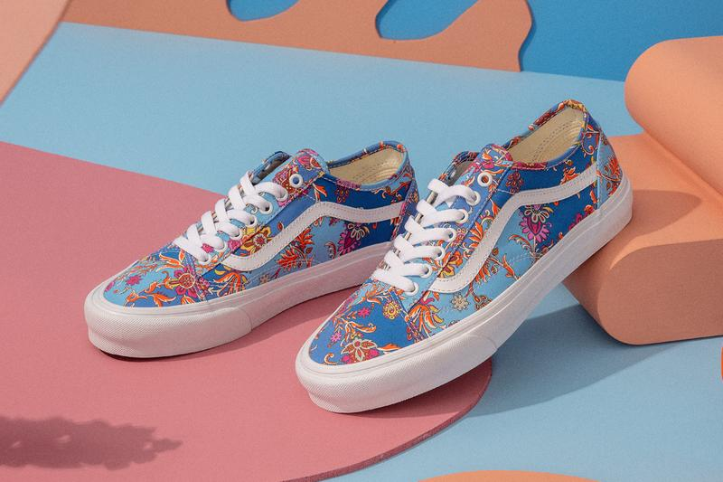 vans liberty of london fabrics old skool t shirt sweatshirt floral paisley official release date info photos price store list buying guide