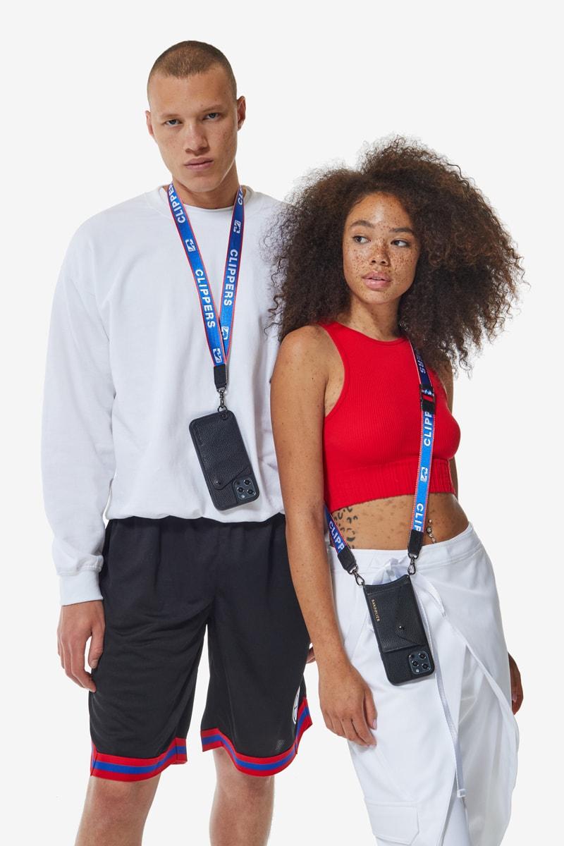 phone case nba basketball collaboration nylon strap wallet accessory