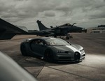 "Bugatti's ""Les Légendes du Ciel"" Edition Chiron Sport Takes on the Dassault Rafael Marine Fighter Jet in a Runway Showdown"