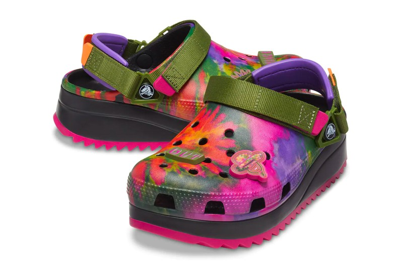 Crocs' Classic Hiker Receives Two Psychedelic Tie-Dye Colorways