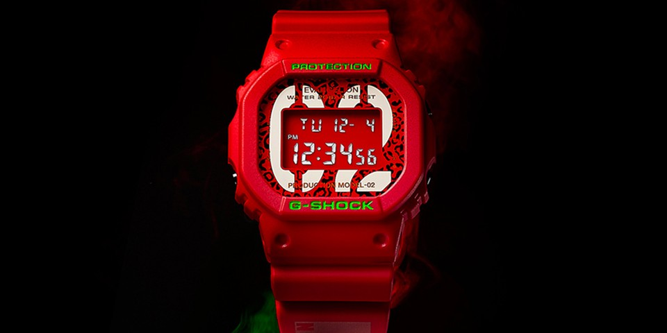 Casio G-SHOCK Taps 'Neon Genesis Evangelion' for Bold Red DW-5600