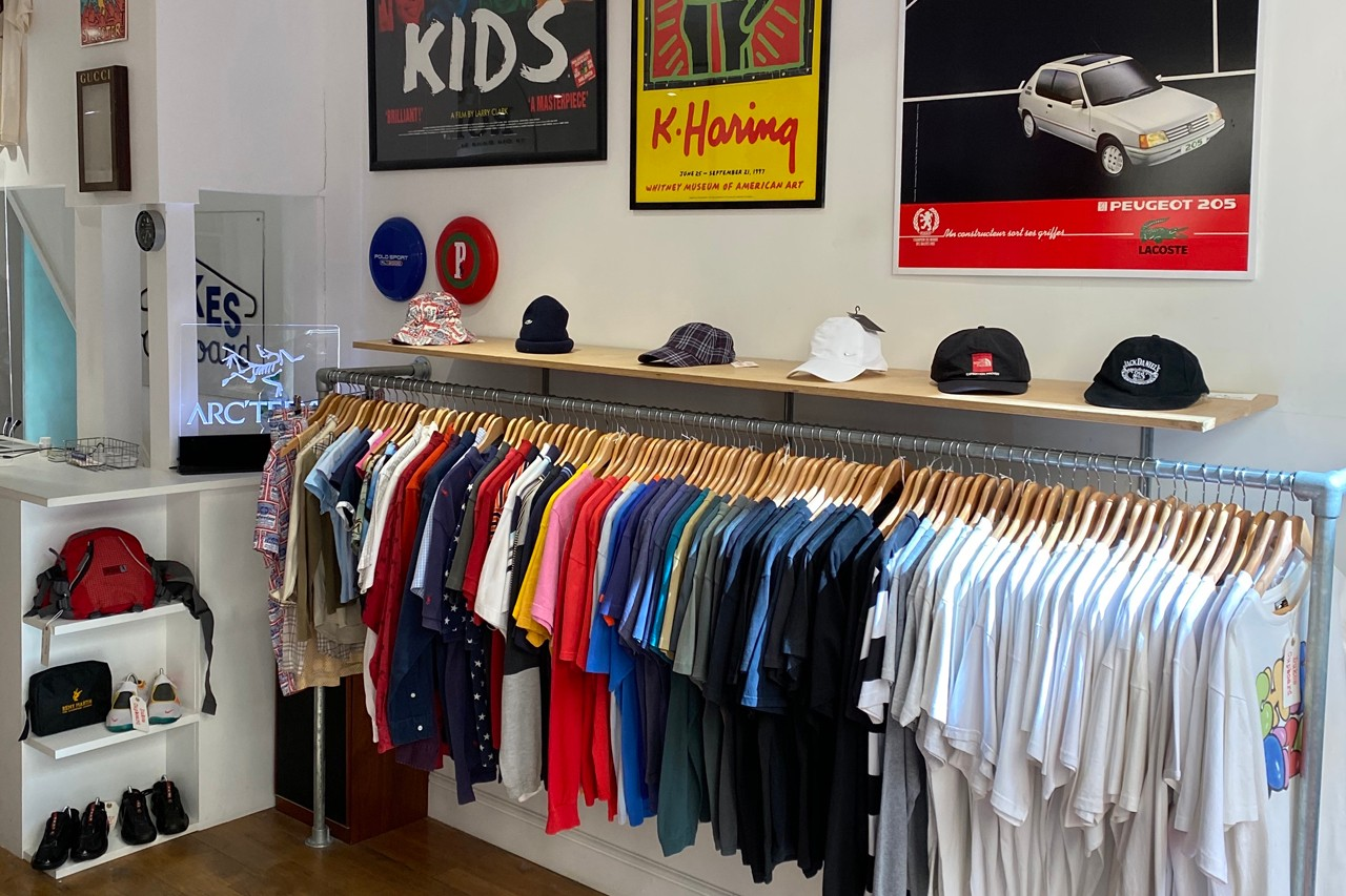 Archive Fashion Clothes Designer Rare Vintage Raf Simons Riot Riot Riot 2001 Margiela Stone Island Supreme Streetwear Dukes Cupboard Soho London Aro Archive Broadway Market Byronesque Vintage Garments Collectors Limited Runway Shows How to Build Buy Sale Resale Grailed Depop Finding Sourcing