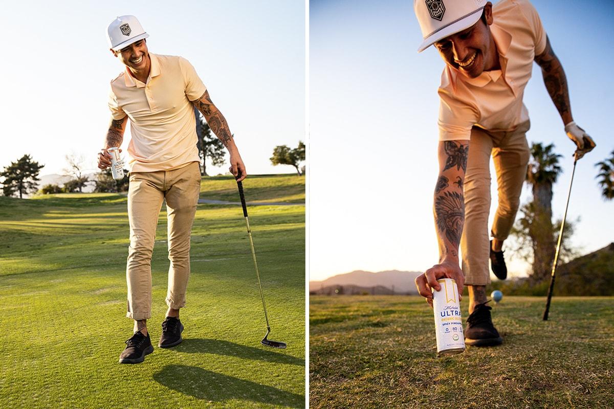 ultra seltzer golf tournament golfing streetwear beverage