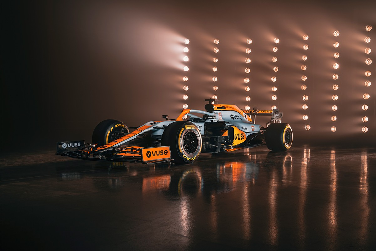 formula 1 monaco grand prix mclaren racing team lando norris gulf livery interview daniel ricciardo