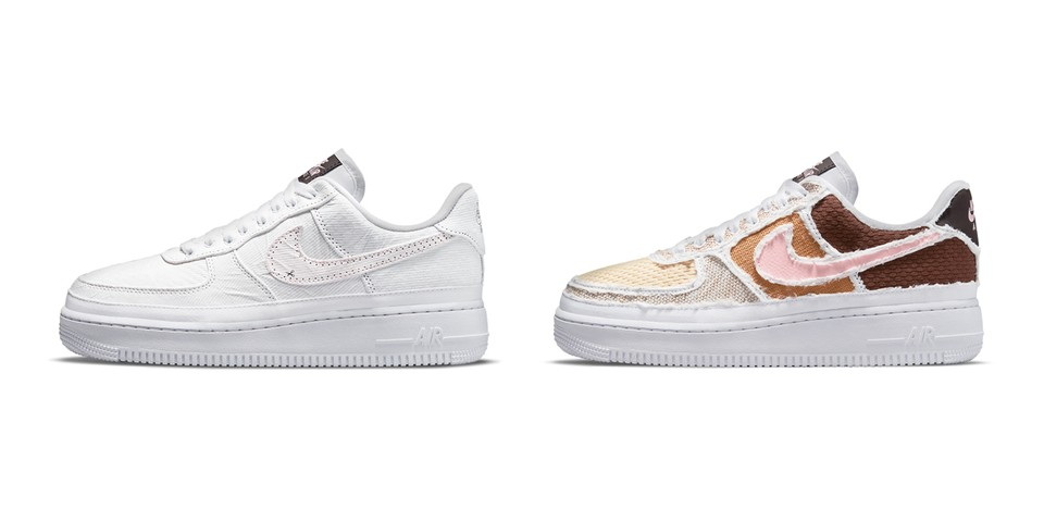 """Nike Air Force 1 """"Texture Reveal"""" and """"Pastel Reveal"""" Hide Colorful Detailing Under Tear-Away Uppers"""