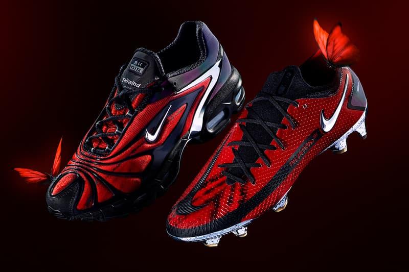 "skepta dave details release information Nike SK Phantom Football Boot Air Max Tailwind V ""Bloody Chrome"""