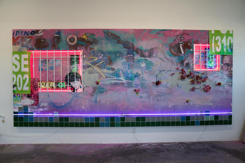 patrick martinez neon artwork bmw los angeles pedro alonzo installation