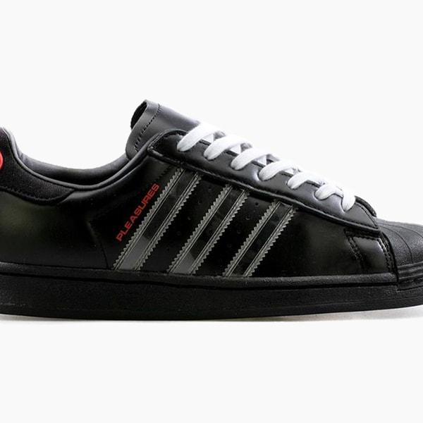 PLEASURES adidas Superstar Black Red