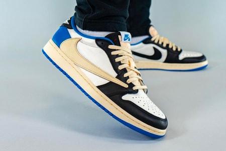 Take an On-Foot Look at the Travis Scott x fragment x Air Jordan 1 Low