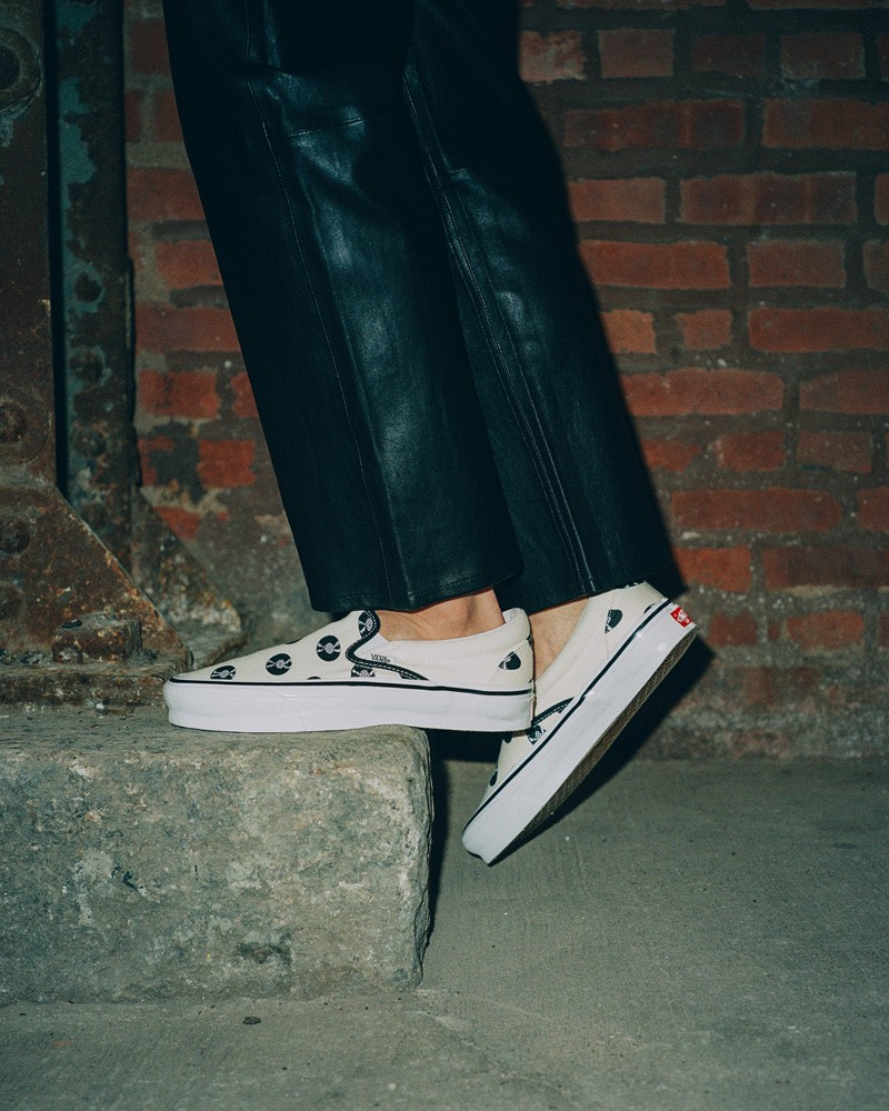 vans sneakers wacko maria kunichi nomura slip-on vinyl record music collaboration