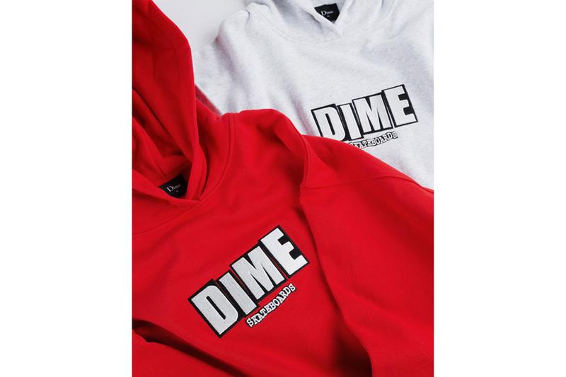 Dime Baker Skateboards colaboración colección sudadera con capucha camiseta skate deck nuevo lanzamiento
