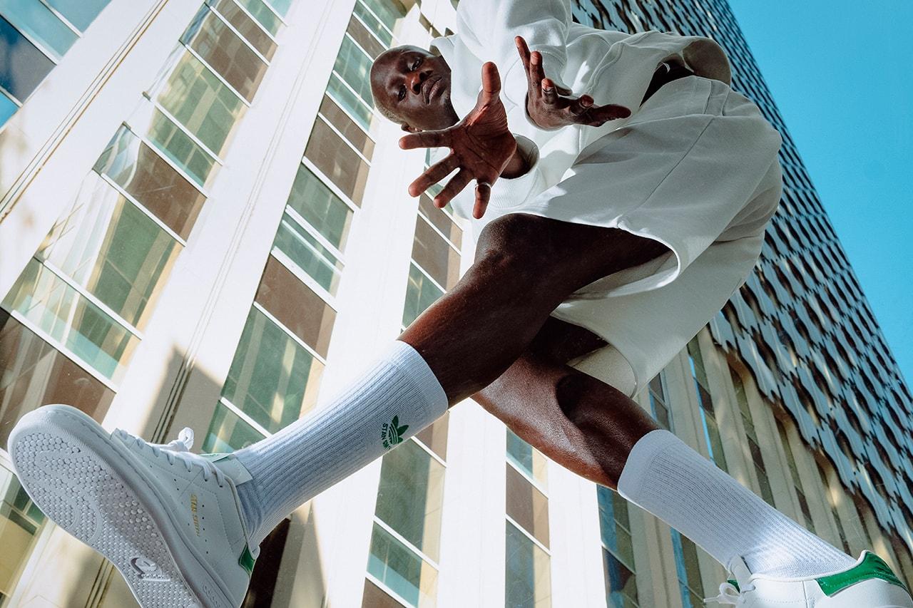adidas originals stan smith primegreen sustainability paris foot locker sneaker footwear fashion trefoil