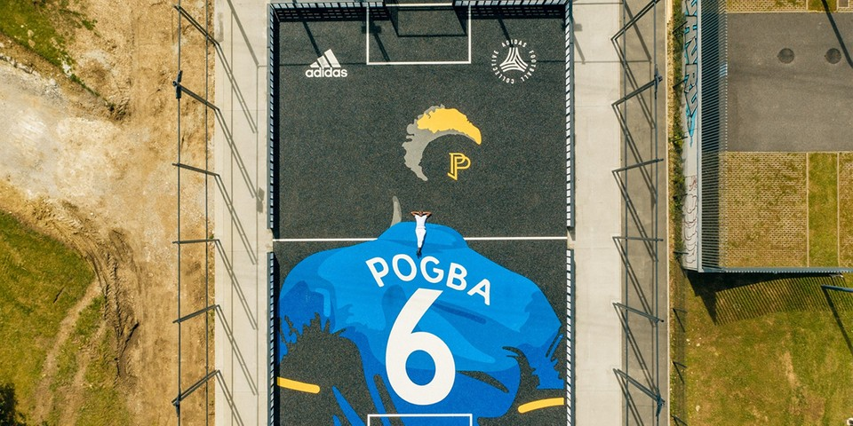 adidas Constructs a Tribute Football Pitch in Paul Pogba's Hometown