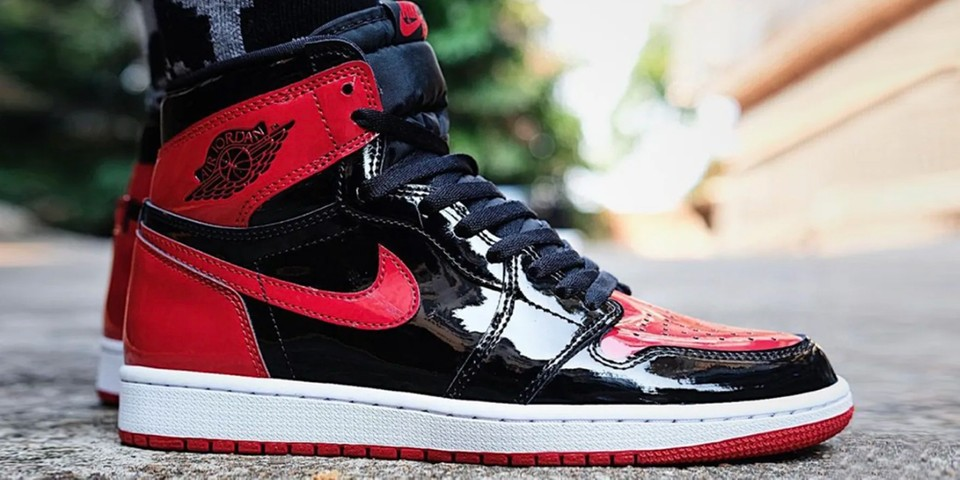 """Take an On-Foot Look at the Air Jordan 1 High OG """"Patent Bred"""""""