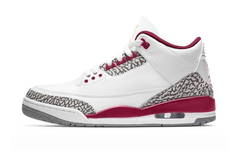 "The Air Jordan 3 Is Set To Receive a ""Cardinal"" Colorway"