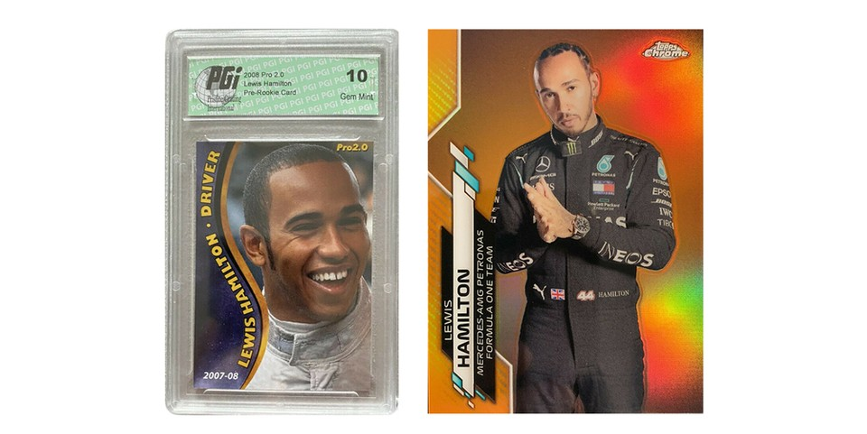 eBay Reveals That Formula 1 Drivers Trading Cards Are Picking Up Speed