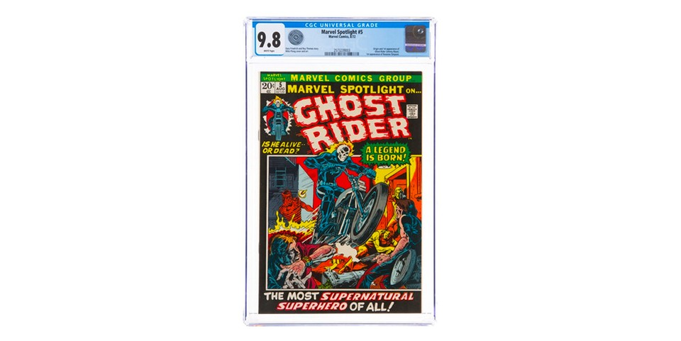 Marvel Spotlight #5 'Ghost Rider' First Appearance Comic Book Sells for $264,000 USD