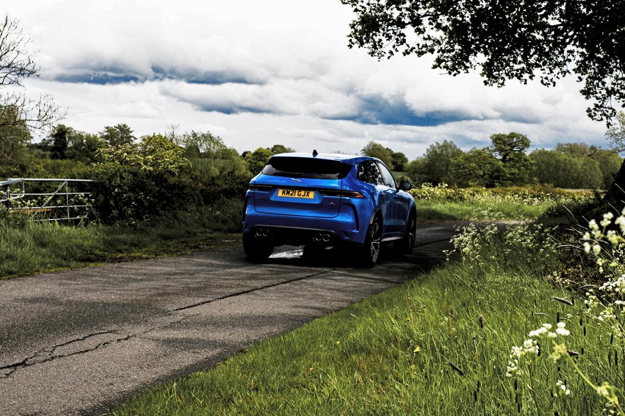 2021 Jaguar F-PACE SVR Road Test Review Driven Drive Five Liter V8 550 HP JLR SUV Rare Expensive British Automotive Manufacturer Photoshoot Power Speed Performance