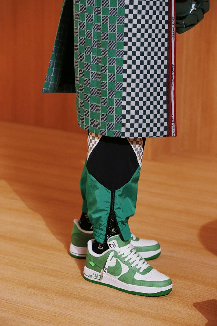 Nike Collaboration Air Force 1 Louis Vuitton Spring/Summer 2022 Amen Break Virgil Abloh Men's Show Collection Lookbook Video Scenes LV Monogram Bags Accessories Tracksuits Tailoring Shoes Boots BTS Goldie GZA Benji B Paris
