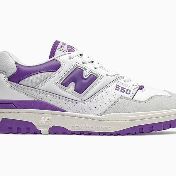 New Balance 550 Purple and White