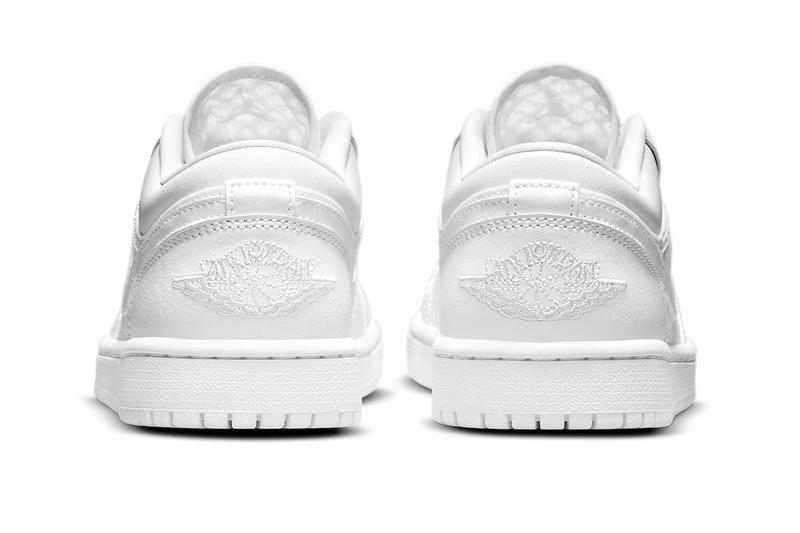 all-white mesh and leather Air Jordan 1