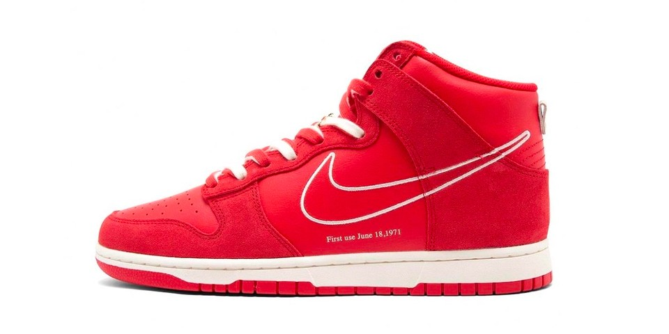 """Nike Dunk High """"First Use"""" in """"University Red"""" First Look 