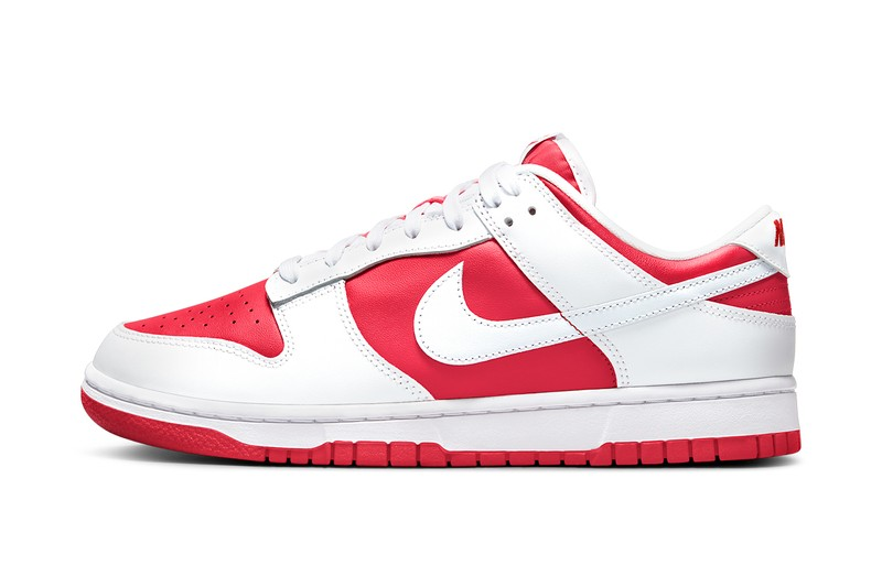 """Nike Dunk Low """"University Red/White"""" Supplies Inverted Style"""