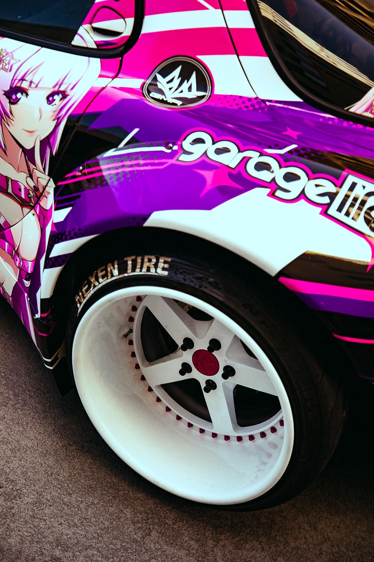 Sara Choi's 1993 Mazda RX-7 Drift Car: DRIVERS itasha anime gaming power over it youtube channel host model