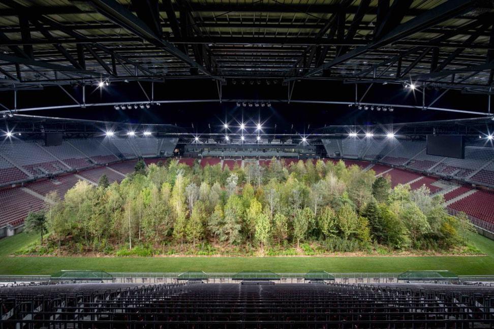 klaus littman es devlin london design bienniale forest installation