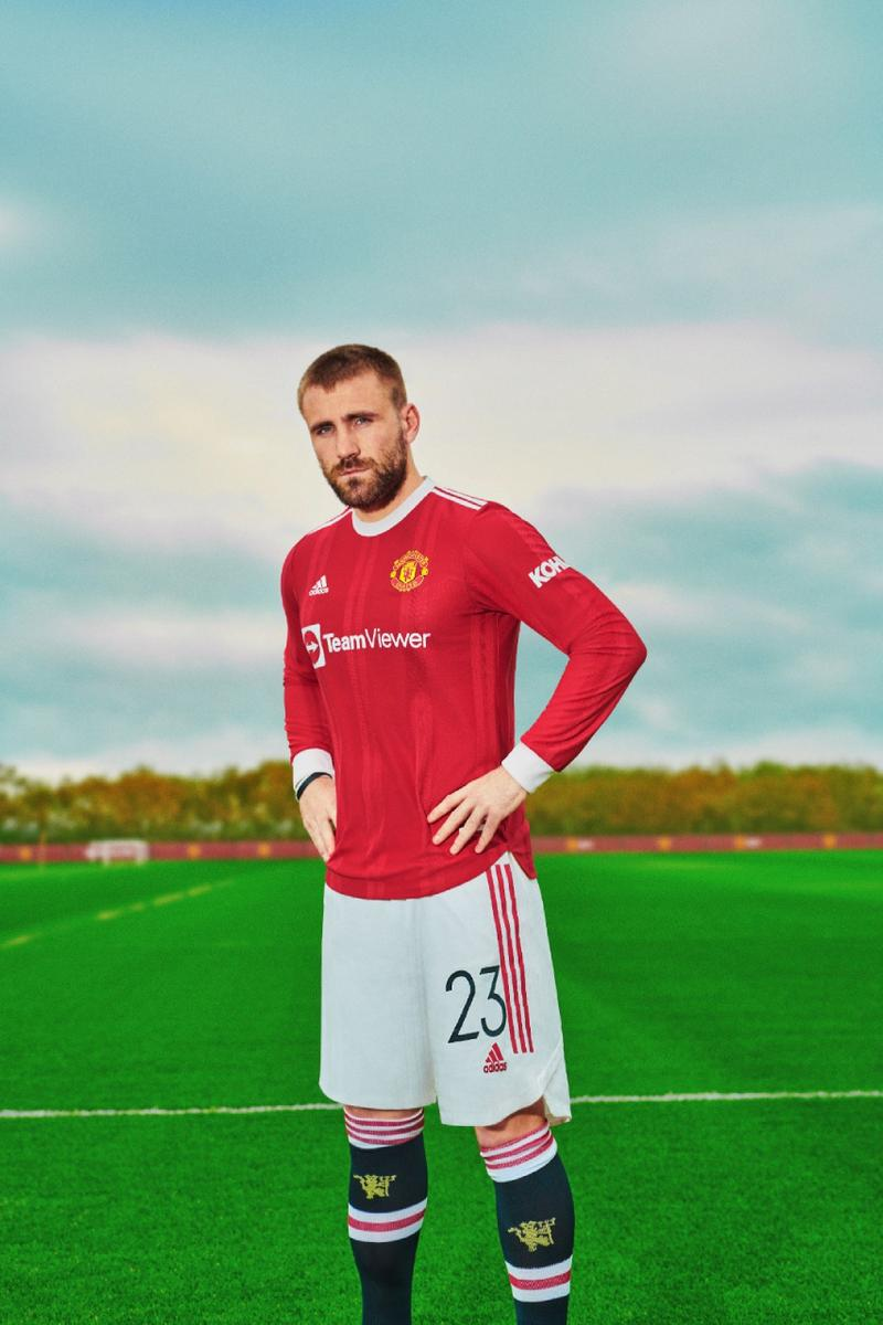 Manchester United 2021/22 Home Kit adidas Football red luke shaw release information teamviewer