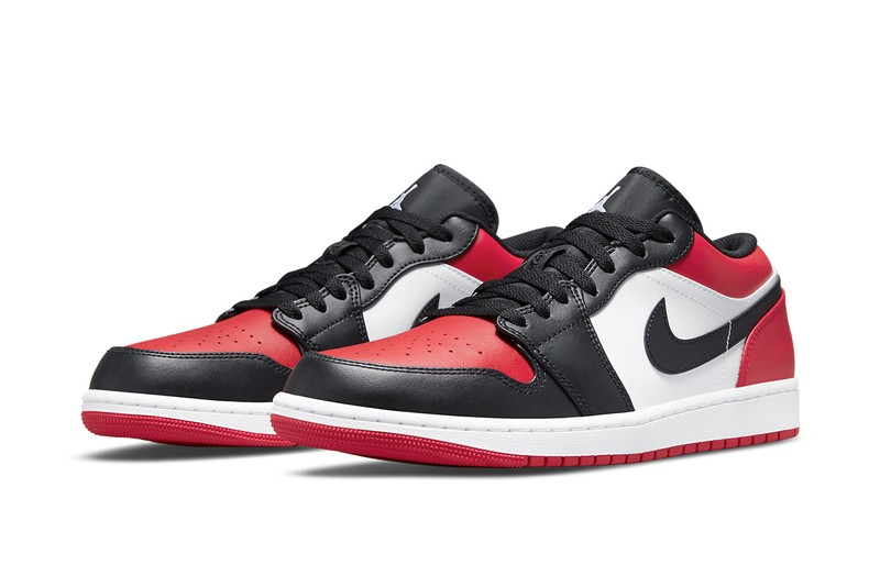 """The Air Jordan 1 """"Bred Toe"""" Is Back (in Low-Top Form)"""