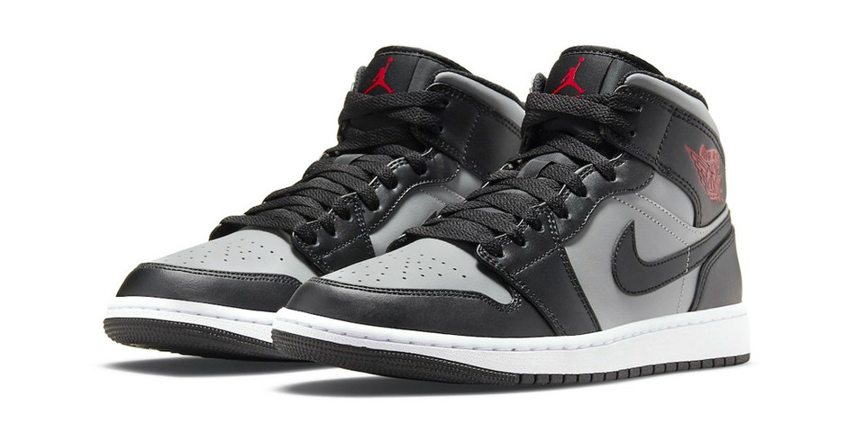 """The Air Jordan 1 Mid Receives a """"Shadow""""-Like Colorway With Red Accents"""