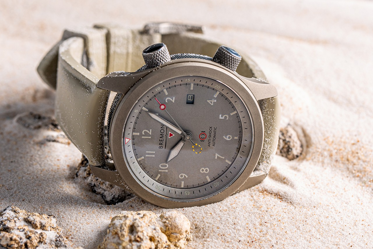 Grade 5 titanium watch scorched but survives multiple ejector seat tests.