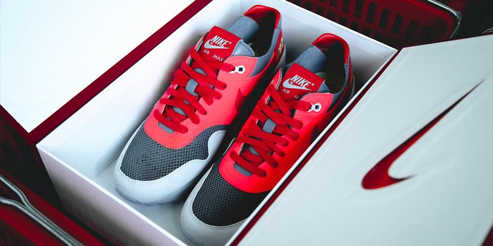 """Closer Looks: CLOT x Nike Air Max 1 """"K.O.D. Solar Red"""""""