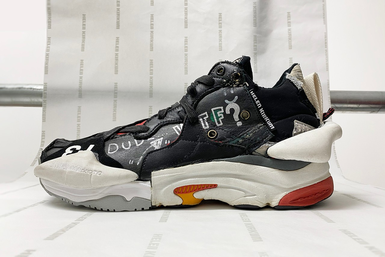 Helen Kirkum Nike Air Max 90 Deconstructed Reconstructed London Designer One Off Custom Shoes Off White Jordan 1 Reworked Sole Mates Interview Exclusive