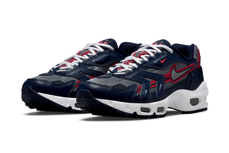 """Nike Air Max 96 II """"Midnight Navy"""" is Furnished With USA Color Schemes"""