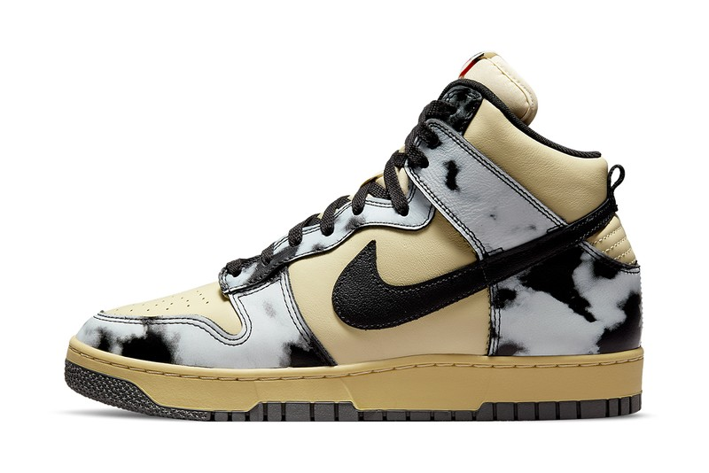 """Nike Dunk High 1985 """"Acid Wash"""" is Officially Unveiled in Cream and Black"""