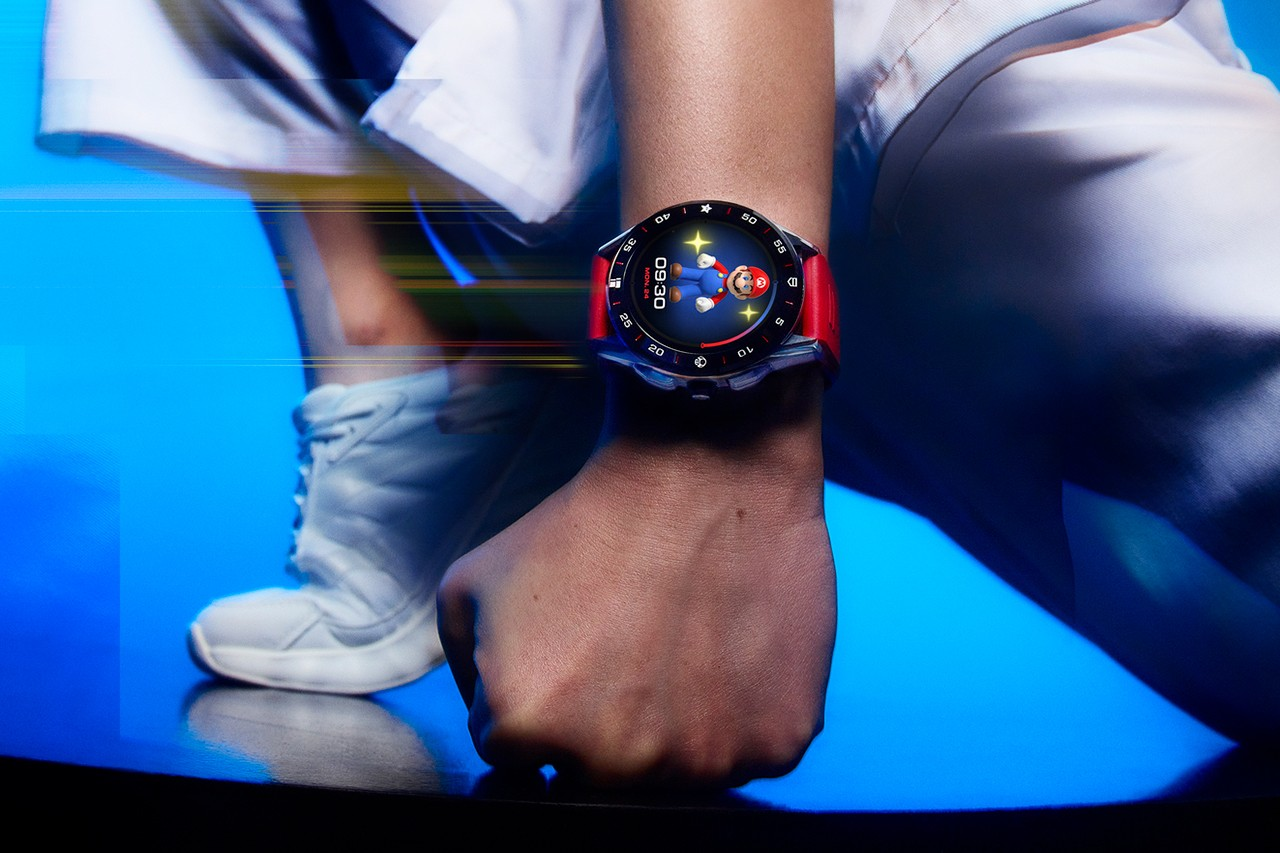 TAG Heuer nintendo super mario bros gaming watch connectivity fitness timepiece swiss italy