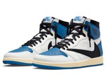 "Official Look at the Travis Scott x fragment x Air Jordan 1 High ""Military Blue"""